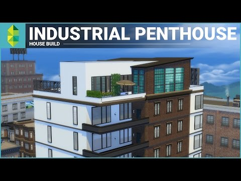 The Sims 4 Apartment Build - Industrial Penthouse