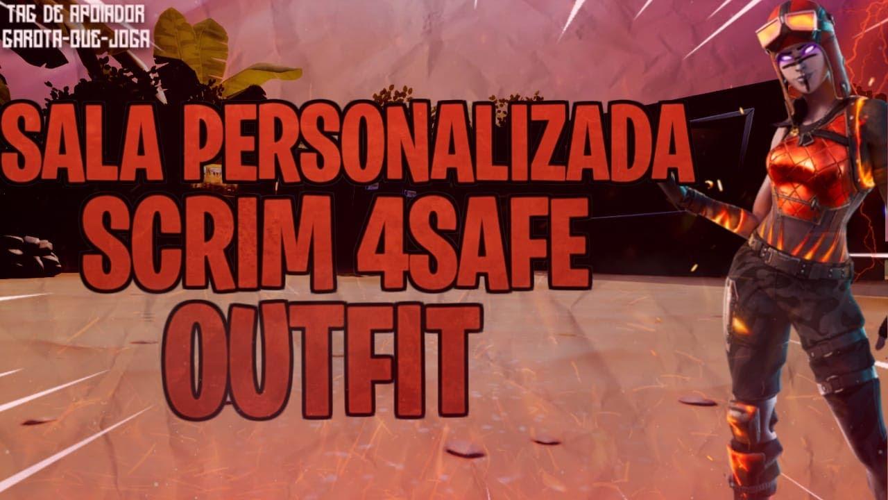 LIVE-SALA PERSONALIZADA FORTNITE AO (VIVO)/SCRIM 4SAFE/ OUTFIT
