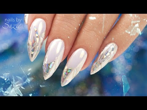Holographic Shattered Glass Nails