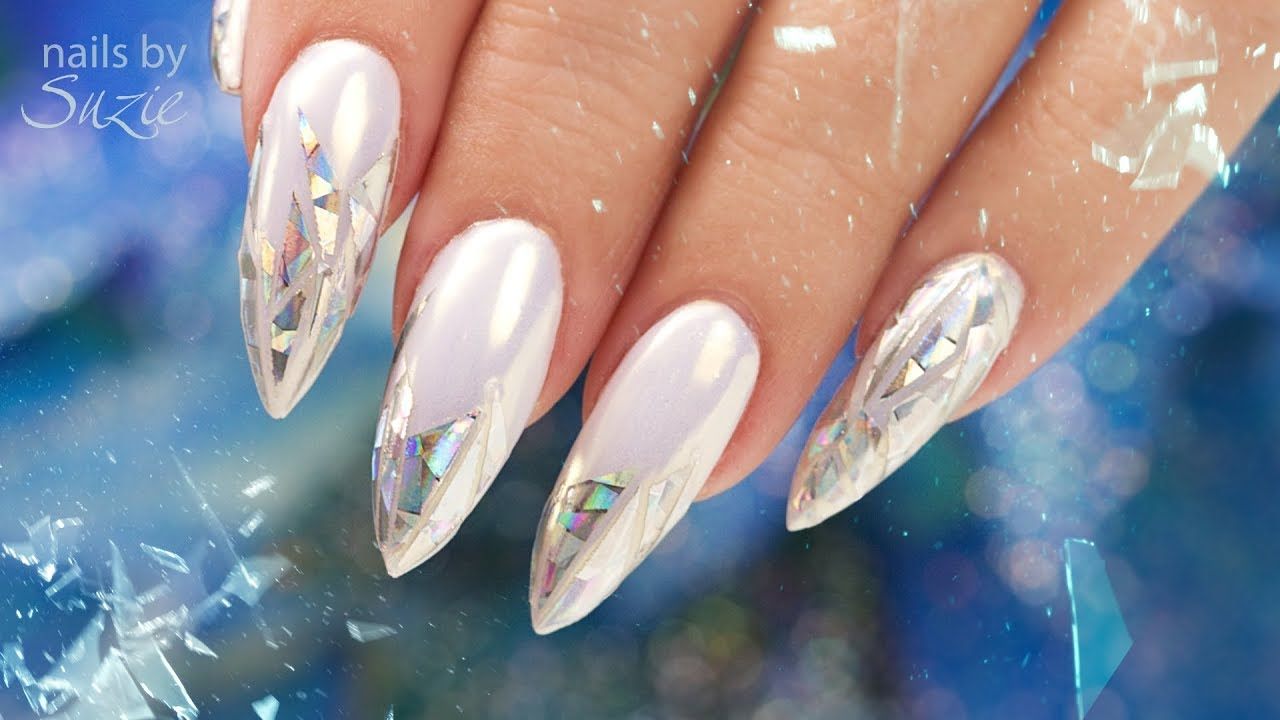 Holographic Shattered Gl Nails