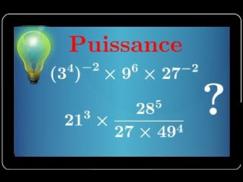 Download Calcul avec des puissances négatives d'un nombre • Exercice pour s'entrainer • Seconde exposant