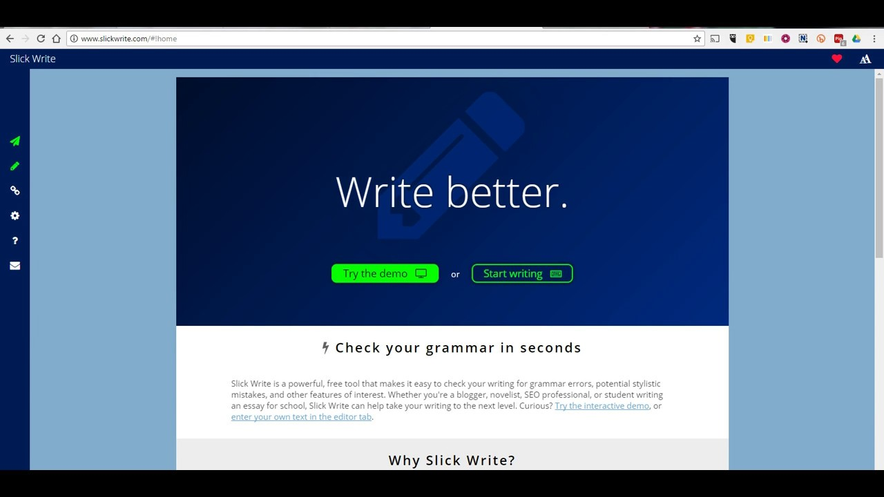 Slick Write Grammarly Alternatives