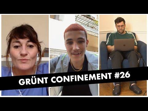 Youtube: Grünt Confinement #25 avec Pascale Pascariello, Sean et Bertrand Dezoteux