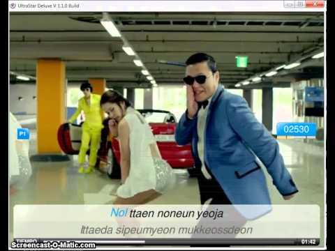 Ultrastar deluxe-Gangnam Style PSY gameplay