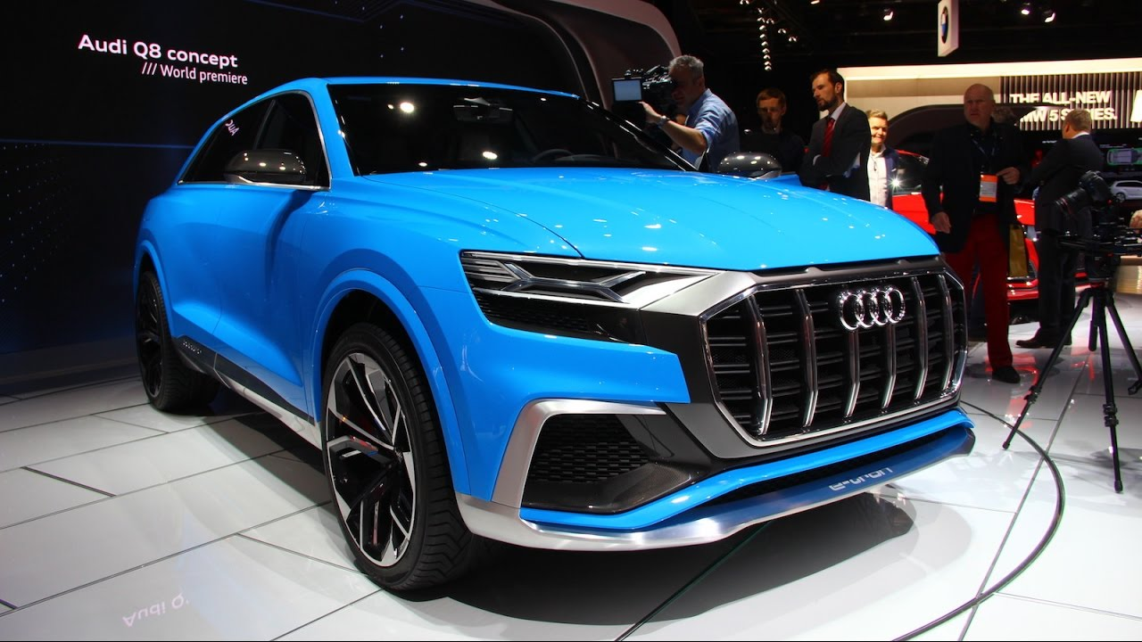 audi q8 e tron concept first look 2017 detroit auto show. Black Bedroom Furniture Sets. Home Design Ideas