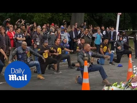 New Zealand's Black Power perform emotional haka in tribute