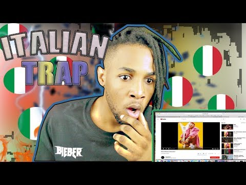 FIRST EVER REACTION TO  ITALIAN RAP/TRAP MUSIC HIP/HOP Junior Cally,SFERA EBBASTA