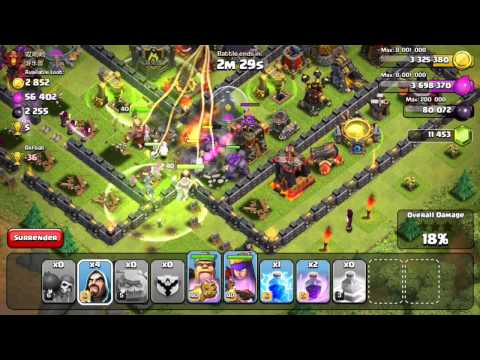 Clash of Clans - 5x20 Golem Wizard Attacks!