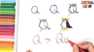 How To Draw and Color a Queen Easy Steps By Step ✅How To Teach Baby To Speak English