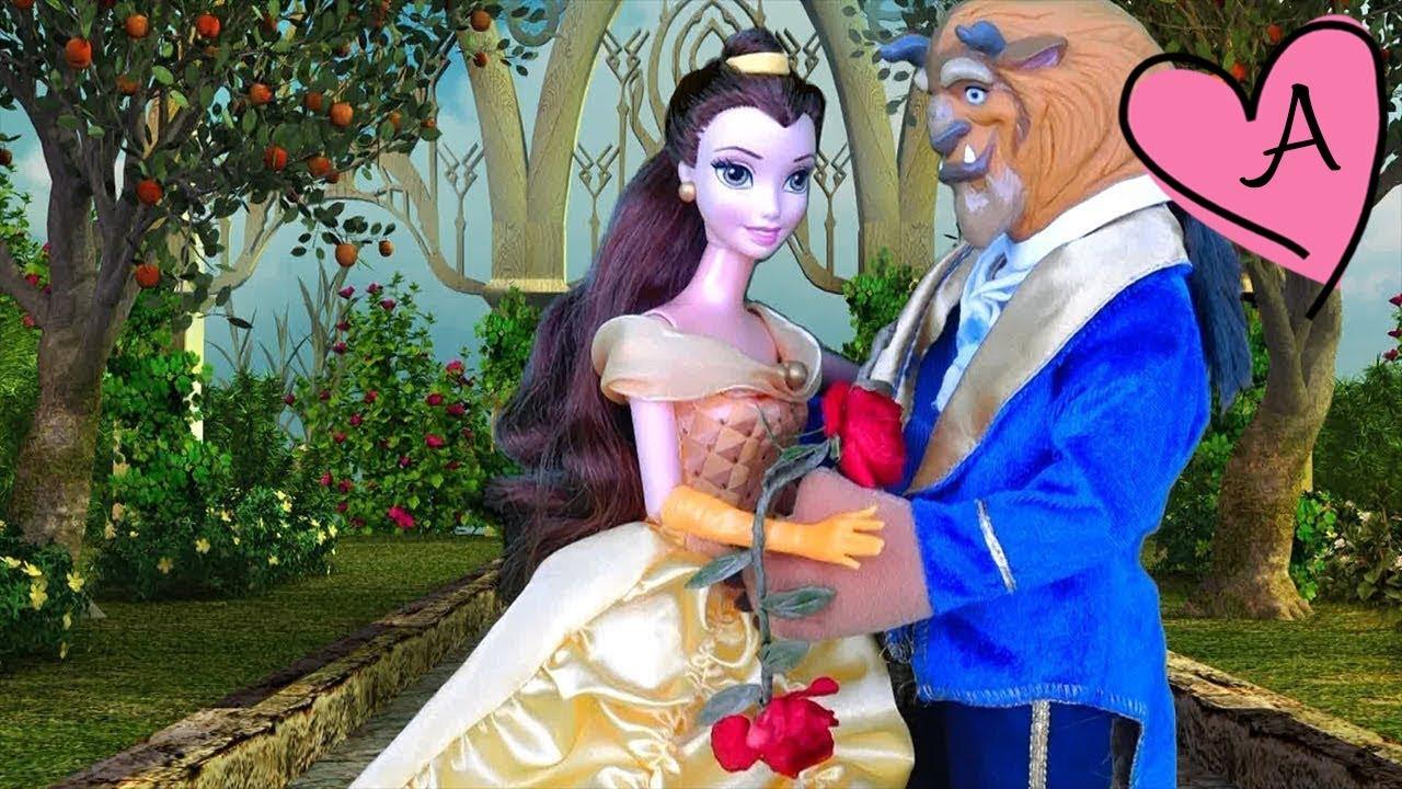 Cuento La Bella y la Bestia con Barbie en español | Muñecas y ...
