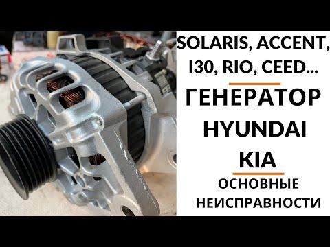 Генератор Hyundai Solaris, KIA Rio. Обзор+диагностика+дефектовка.