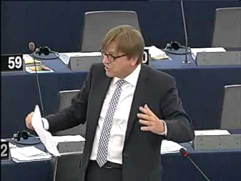 Guy Verhofstadt EU federalist attacks Britain & Her majestys government 4 keeping democratic soverei