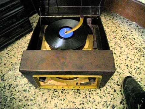 RADIO Tocadiscos de tubos valvulas Admiral 78-45-33 rpm modelo 5d3 editado