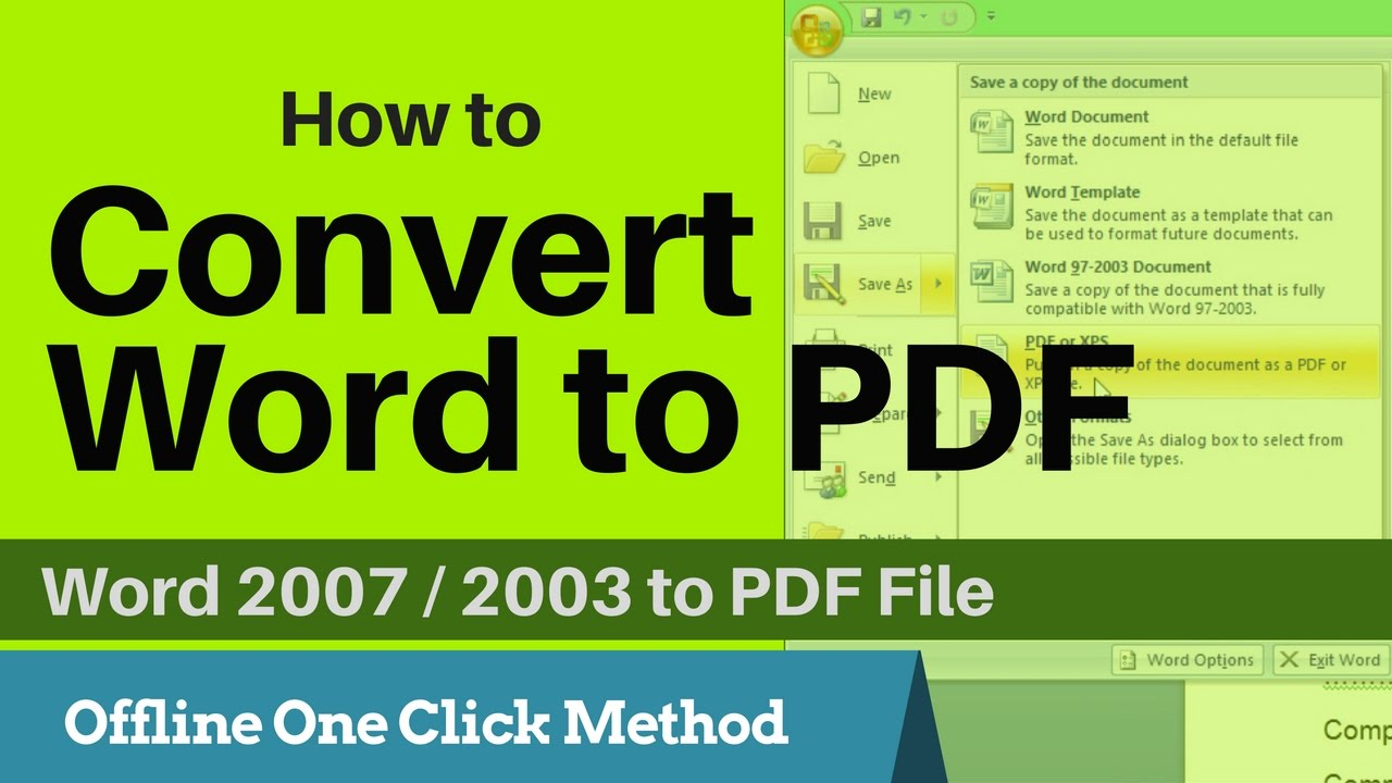 Office Pdf Add On