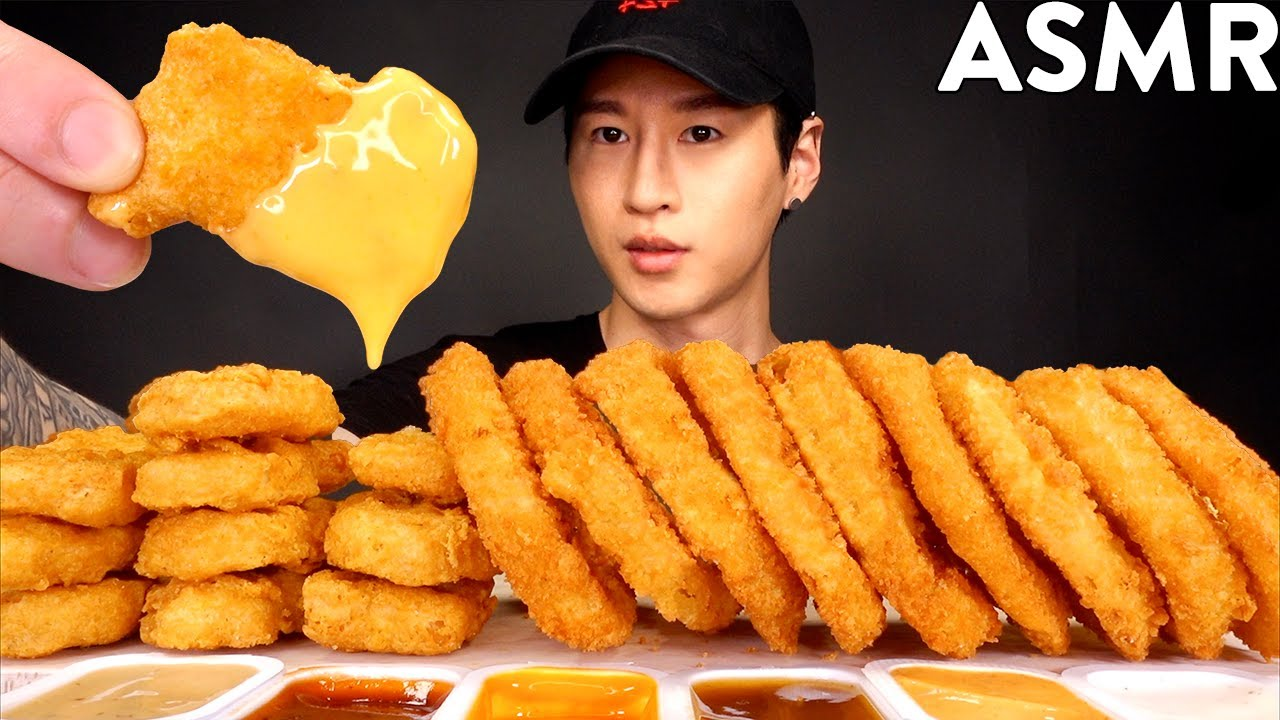Asmr Chicken Nuggets Onion Rings Cheese Mukbang No Talking Eating Sounds Zach Choi Asmr
