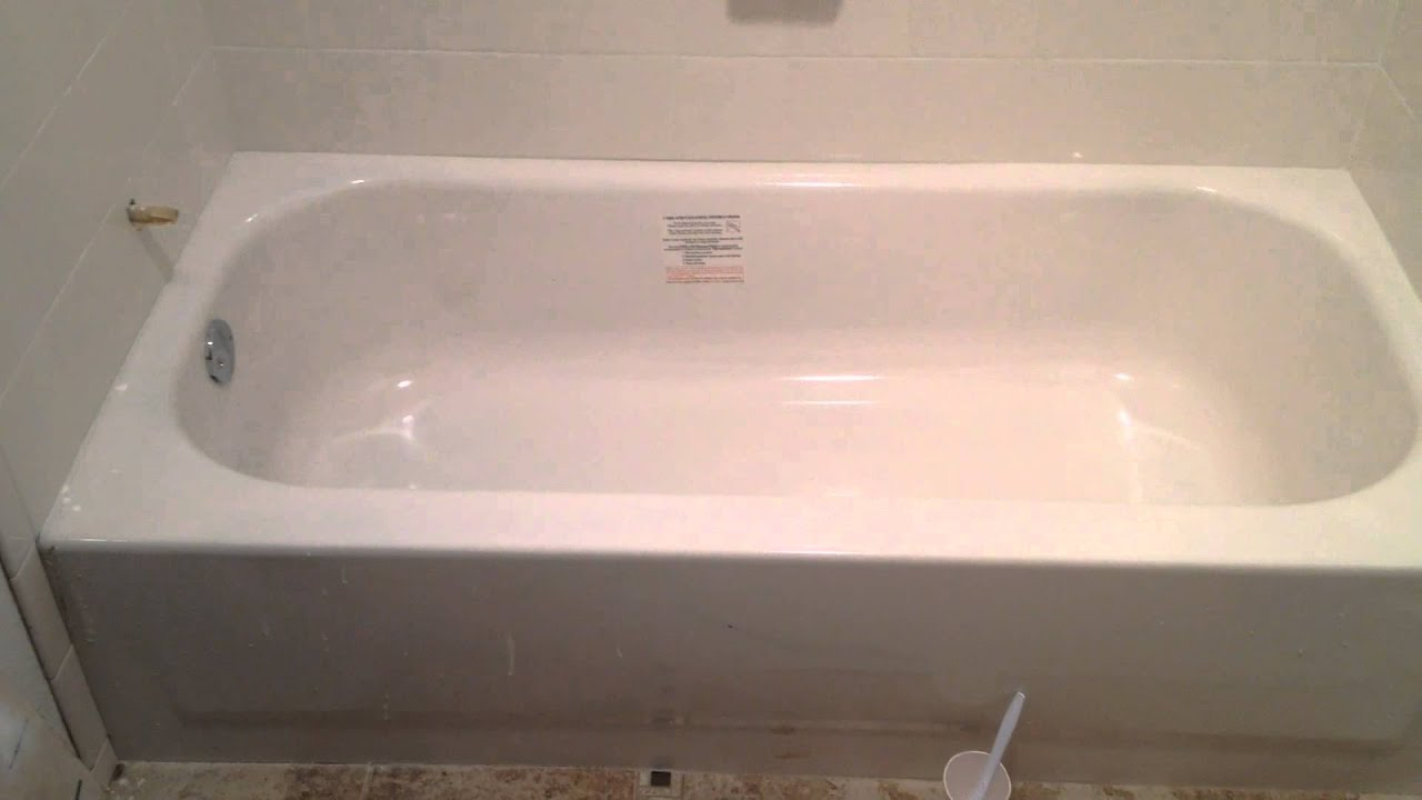Chipped steel bootz bathtub repair austin tx youtube for Bathtub repair