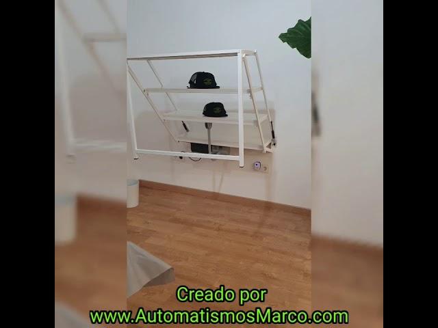 Mesa convertible en estantería sin necesidad de quitar nada Automática creada por Automatismos Marco