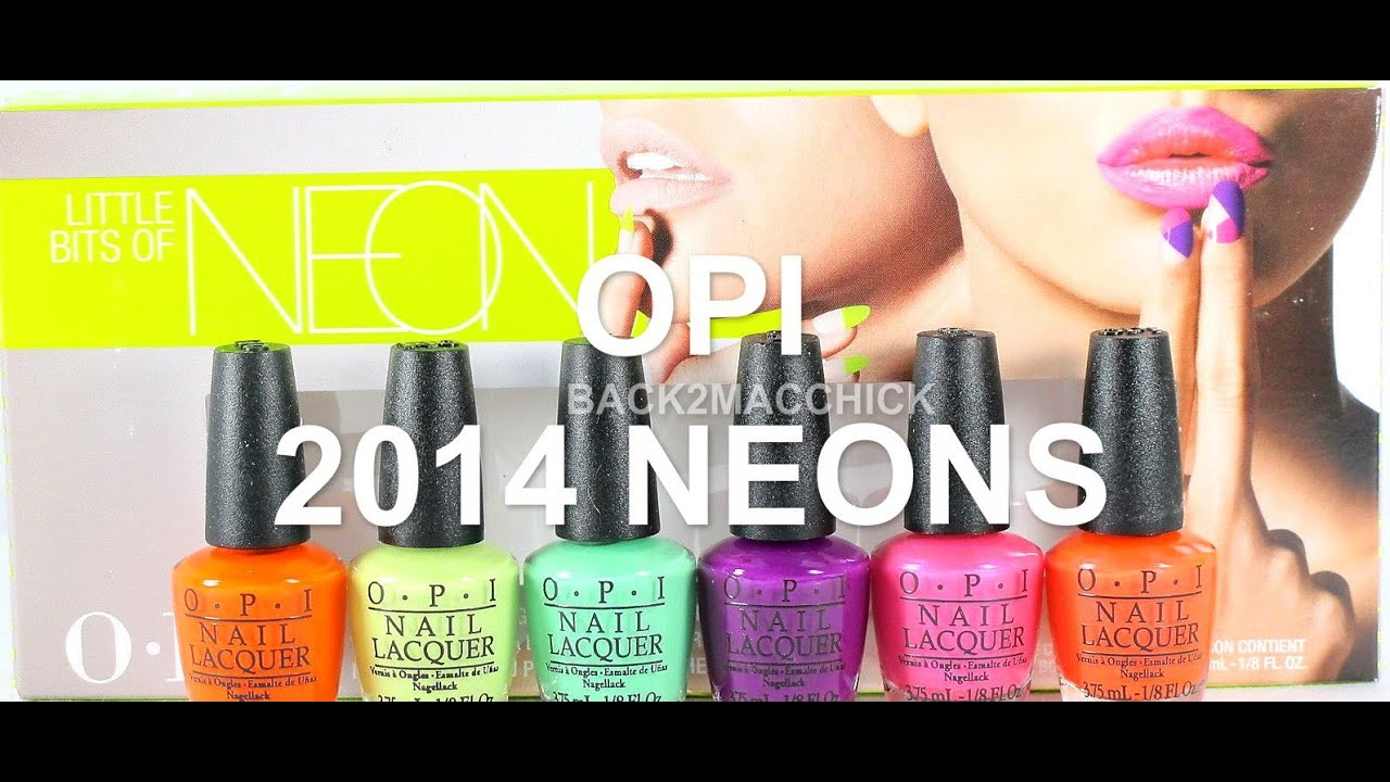 NAIL POLISH COLLECTION REVIEW W/SWATCHES: 2014 OPI NEON NAIL POLISH ...