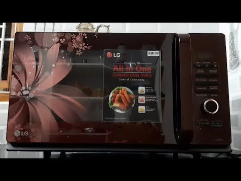 LG 32L convention microwave (MC3286BRUM,Black) unboxing and demo