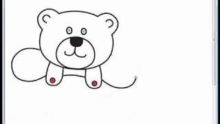 How to draw a toy bear for kids with cheerful song