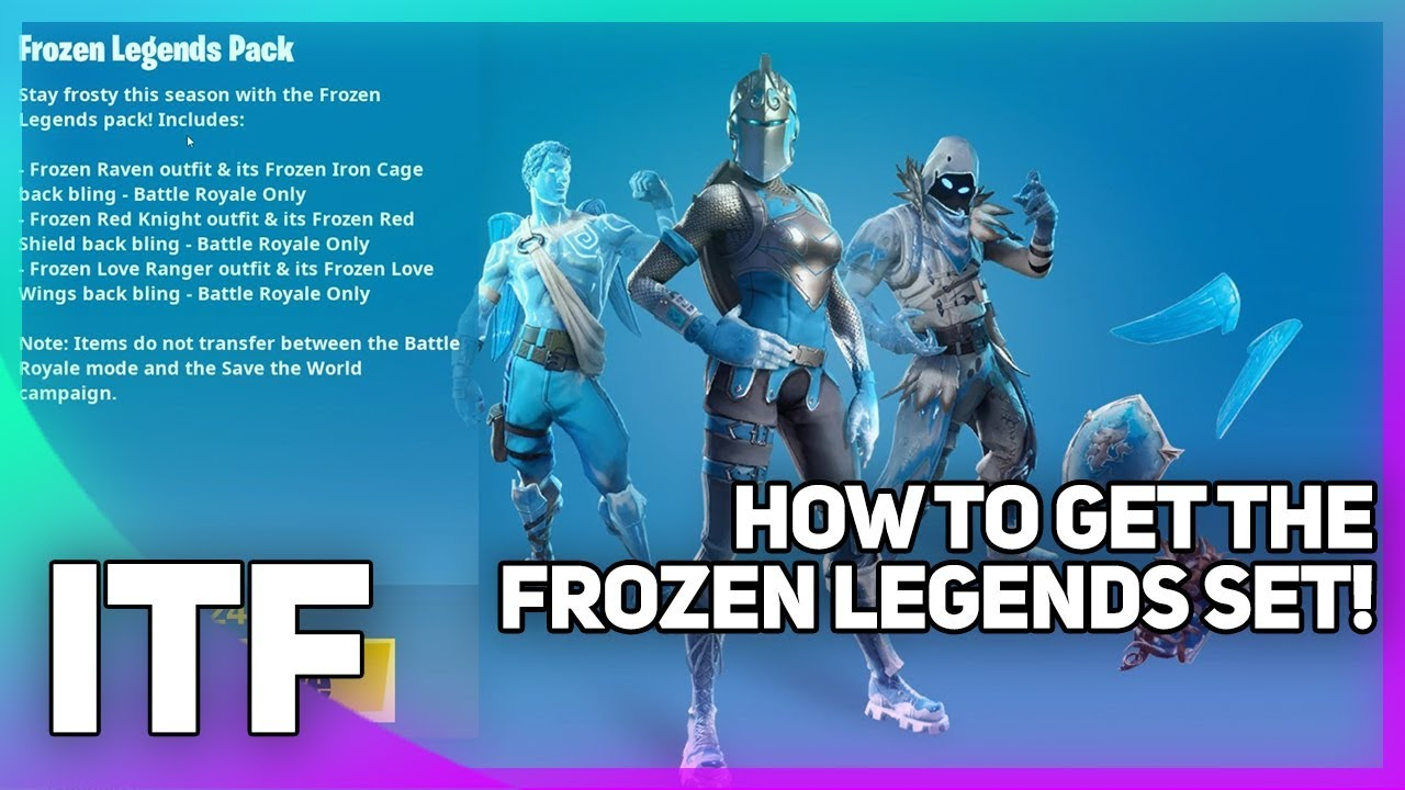 How To Buy The Frozen Legends Set Fortnite Battle Royale Youtube
