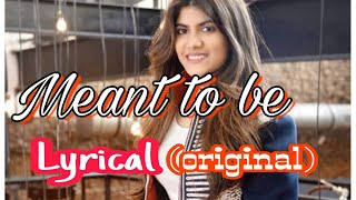 Meant to be lyrical video by ananya birla