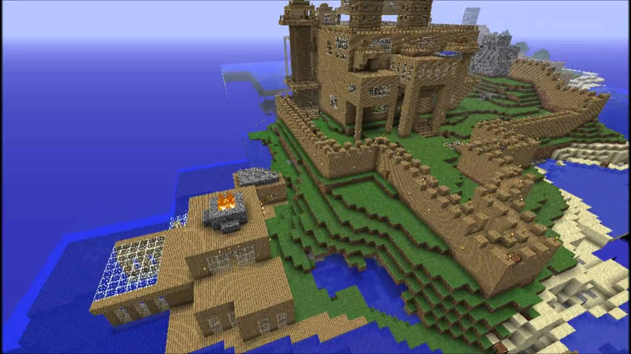 Minecraft wooden castle youtube for How to make a fort out of wood