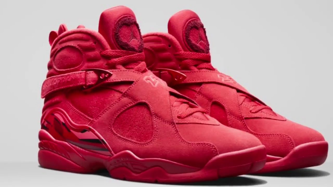d5d1ba421bc93c The First Look of Jordan Retro 8 Valentine s Day Red 2018 - YouTube