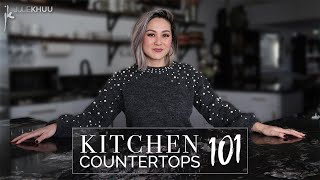 HOME HACKS | Choosing the Best Kitchen Countertops for your Home | Julie Khuu