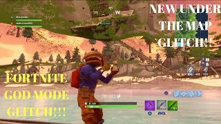 Fortnite Glitches: FULLY UNDER THE MAP GOD MODE GLITCH IN UNDER LOOT LAKE!!! /GOD MODE GLITCH!!