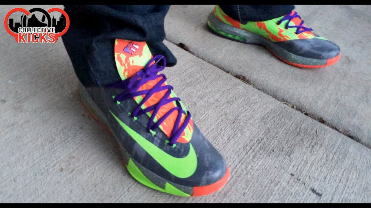Cheap Online 2015 Nike KD 6 Cheap sale Energy Nerf Grey Electric