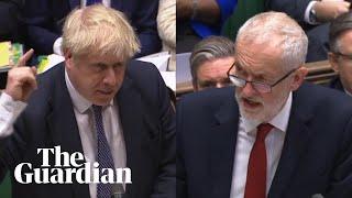 Boris Johnson and Jeremy Corbyn clash over NHS