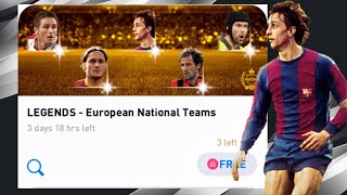 LEGENDS - European National Teams Pack Opening - Pes 2020 Mobile