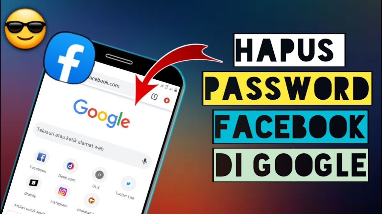 how to remove facebook password stored on google
