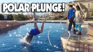 POLAR PLUNGE!!! Dad Jumps Into Freezing Ice Pool!