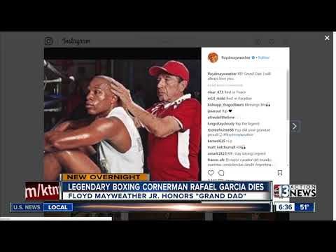 Corner man Rafael Garcia has died