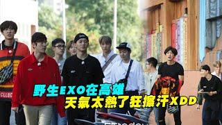 野生EXO在高雄 天氣太熱了狂擦汗XDD