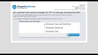 How to compare home energy prices & switch at PowerSwitch.com