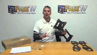 Swivel & Tilt TV Wall Bracket For 22-50 Inch LED/LCD/Plasma TVs
