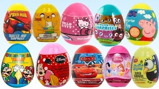 disney cars surprise eggs marvel spider man hello kitty spongebob play doh
