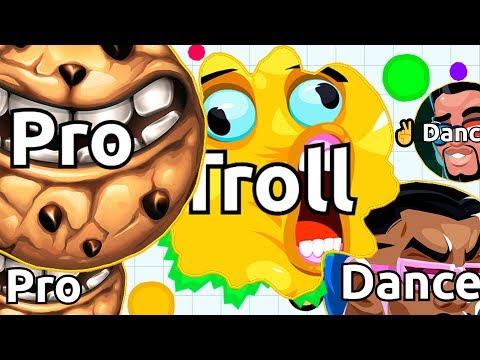 TROLL vs DANCER or NOOB vs PRO in Agar.io