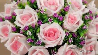 Cách làm hoa hồng bằng giấy nhún: đơn giản, nàng nào cũng mê Emdep TV