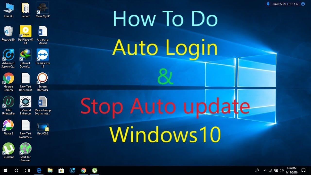 disable windows 10 automatic login