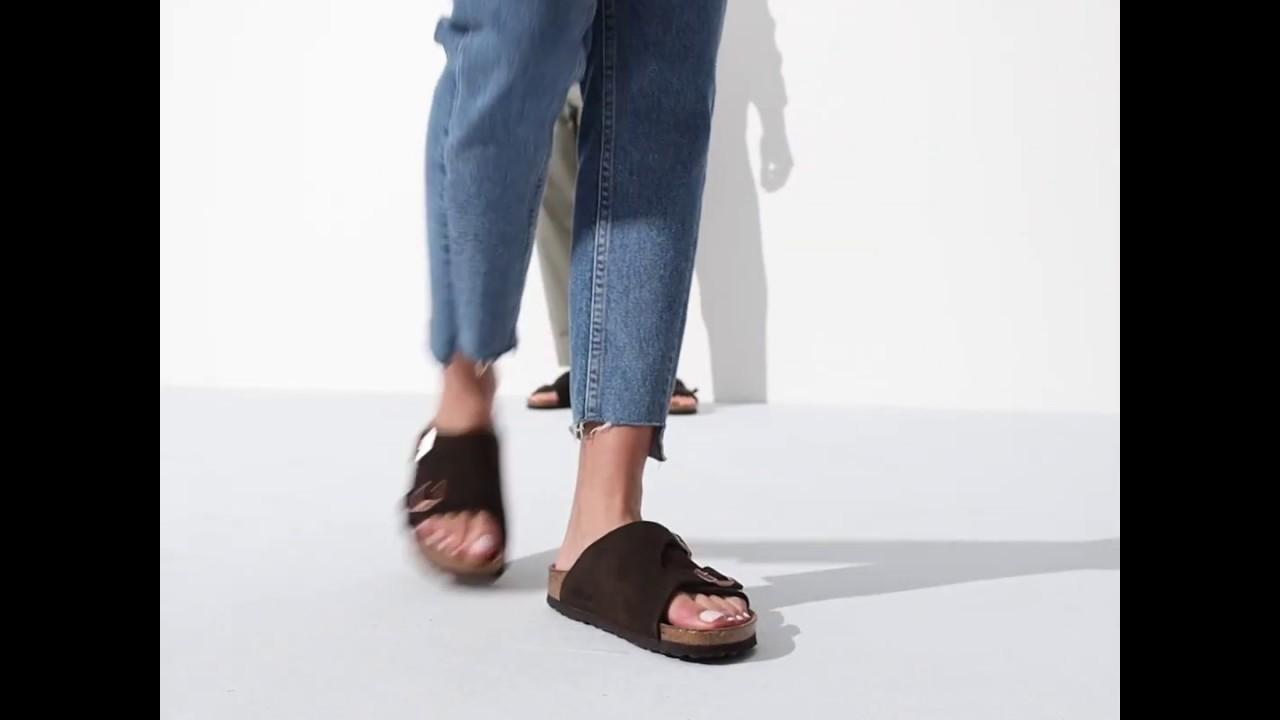 Zürich Suede Leather Soft Footbed Mocha