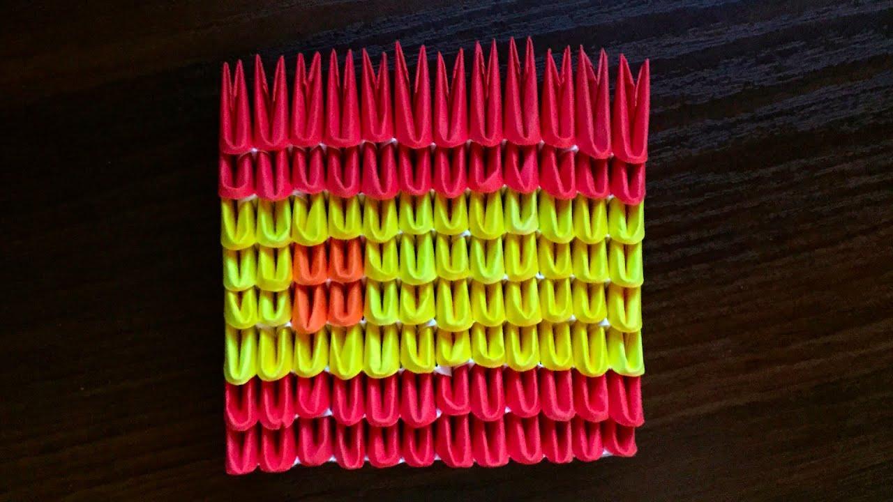 3d origami spanish flag tutorial youtube