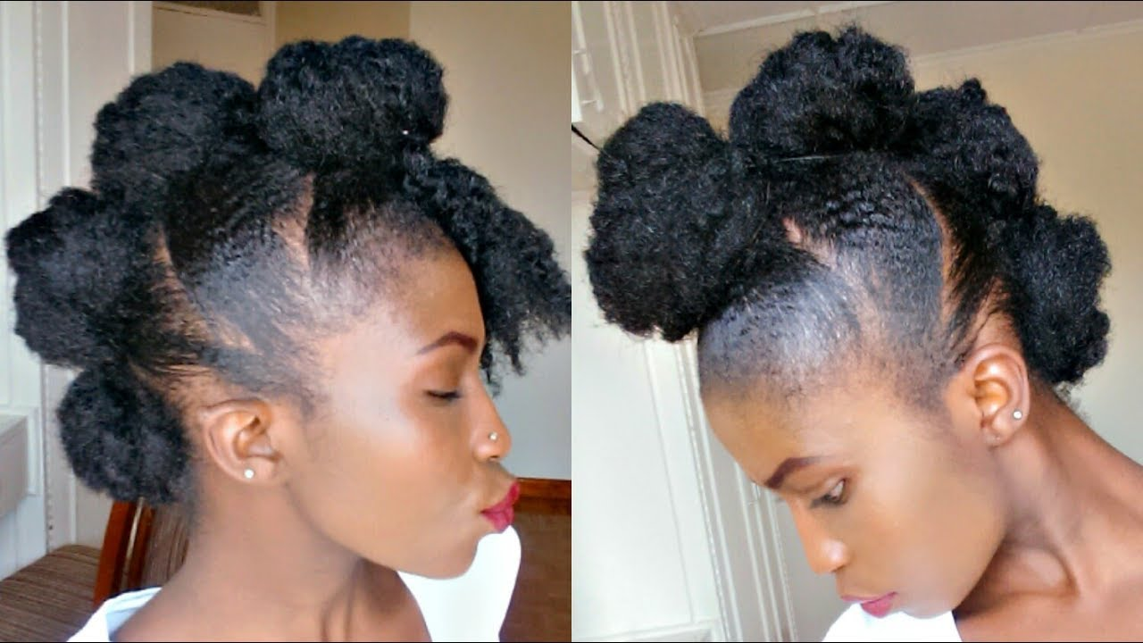 Easy Mohawk For Natural Hair
