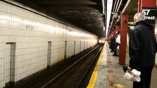 Queens-bound R160 F Train Arrives at 57th Street (IND)