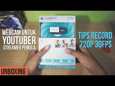 Unboxing || Review Webcam Kere Hore Untuk Youtuber Pemula [ +Tips Record 30Fps di Logitech C270 ]