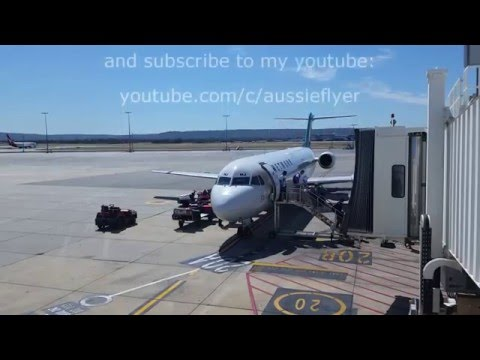 Qantaslink (Network Aviation) Fokker 100 : Geraldton to Perth