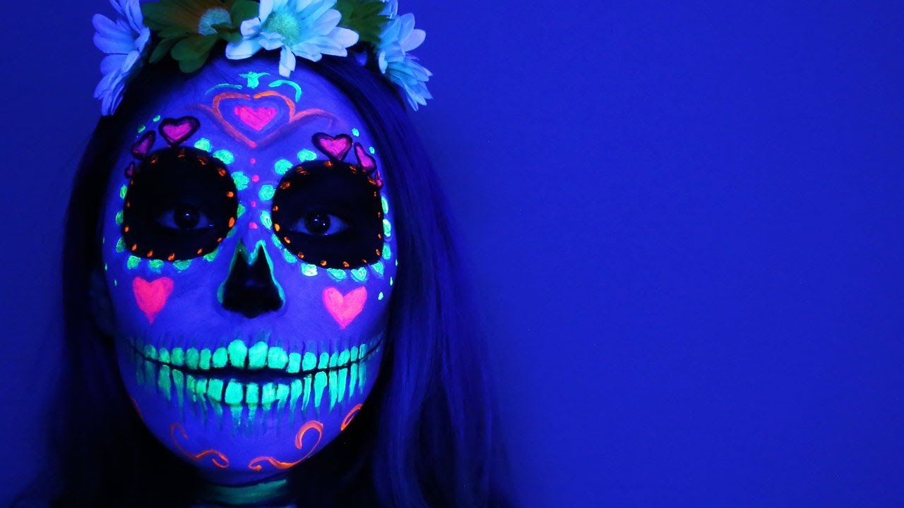 Black Light Sugar Skull Tutorial
